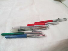 Vintage 6 Sheaffer cartridge & other Fountain Pens Markers red blue green silver