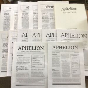 APHELION-THOMAS SAWYER -A JOURNAL OF MAGIC & BIBLIOGRAPHY  13 ISSUES & APPENDIX