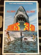 Jaws 3-D Original Movie Poster 27x41 Rolled 1983