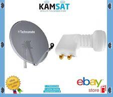 Technomate Mesh 80 cm KIT PARABOLA SATELLITARE CON SUPPORTO A PARETE + 0.1db Twin LNB