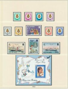 D208847 Isle of Man 1982 Nice selection of MNH stamps