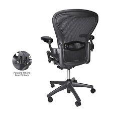 Fully Loaded Herman Miller Classic Aeron chair Size B Lumbar Hardwood caster