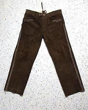 Herren Trachten Wildbock Lederhose von Stockerpoint Grösse 54 bestickt lang J352