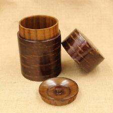 Scatola metallica in legno Mini coperchio doppio da tè