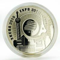 Belarus 20 rubels Expo Exhibition proof silver coin 2010