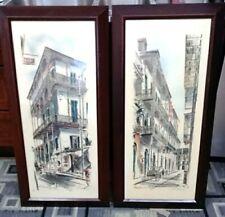 Set of 2  John Haymson Prints New Orleans Framed Large Art Work