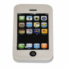 White iphone Rubber Erasers Back School Stationary Party Bag Fillers Toys Gifts