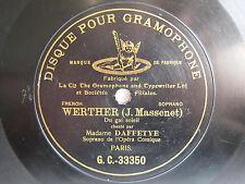 78rpm JEANNE DAFFETYE sings Werther: Du gai soleil - G&T PARIS 1903 1st STAMPER