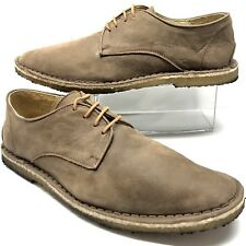 ROSSI & CARUSO Soft Leather Lace Up Crepe Outsole Mens Shoes Size 43 US 10