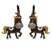 Boucles d'oreilles LOL Bijoux LOLILOTA Cheval De Cirque Horse BFLOL047-marron