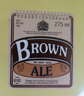 VINTAGE BRITISH BEER LABEL - STAG BREWERY, BROWN ALE 275 ML