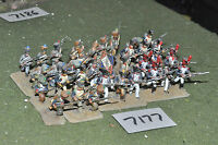 25mm napoleonic / french - infantry 36 figs painted metal - inf (7177)