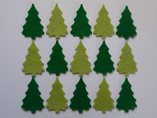 Felt Christmas tree shapes for crafts