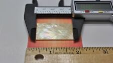 1 piece Inlay material Gold mother of pearl shell blanks (38mmx25mmx1.5mm).