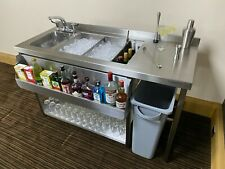 More details for classic bar station, stainless steel, bar sink & fully insulated ice well unit