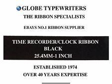 "🌎 25.4MM 1"" GLEDHILL BROOK TIME RECORDER/CLOCK RIBBON BLACK FABRIC ONLY *REWIND"