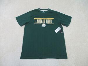 NEW Green Bay Packers Shirt Adult Large Green Yellow Lambeau Field Football Mens