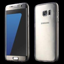 Samsung Galaxy S7 Edge Full Body 360 Silikon Schutzhülle Handy-Hülle Case Grau