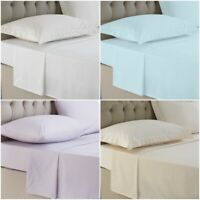 LUXURY 100% EGYPTIAN FLAT SHEET 200 THREAD COUNT HOTEL QUALITY DOUBLE KING SIZES