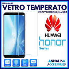 Pellicola in VETRO TEMPERATO per HUAWEI HONOR 10/9/8/7/6/5/Lite/View/Play/A/C/X