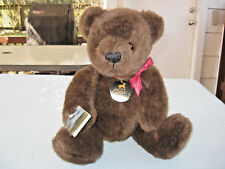 "1983 Classical Carousel By Guy 18"" Brown Bear ""Sterling"" Plush With Hanging Tags"
