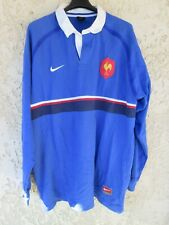 Maillot rugby QUINZE de FRANCE Finale Coupe du Monde 1999 NIKE shirt vintage XL