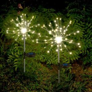2 Pack Solar 105LED Powered 35 Copper Wires String Landscape Light Walkway Patio