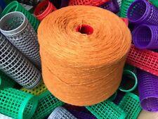 Orange Double Tricotage sur grand 1100 G Cône .50% laine 50% acrylique.