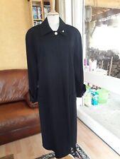 MANTEAU LONG NOIR EN LAINE SONIA RYKIEL PARIS T.40 Long black wool coat size M