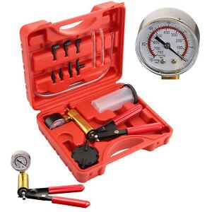 KFZ Vakuumpumpe Set Bremsenentlüfter Unterdruckpumpe Bremse Pumpe Druckprüfer DE