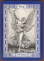 Playing Cards 1 Swap Card Old Antique Wide ANGEL Of PEACE Bernard Partridge Art
