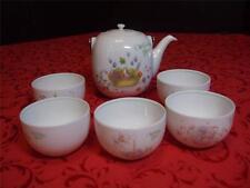 UTSUWAKAN BY MAEBATA - WEDDING BELL  TEA SET - TEA POT & 5 CUPS - MADE IN JAPAN