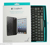 New Logitech iPad mini Retina Wireless Ultrathin Keyboard Cover 920-005021 Black
