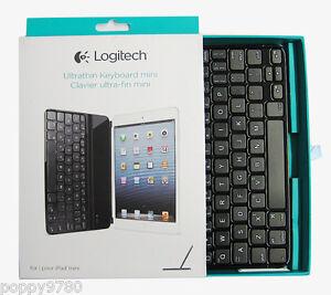 New Logitech iPad mini Retina Wireless Ultrathin Keyboard Cover 920-005021 Black