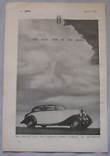 1946 Rolls Royce Original advert No.1