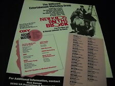 New Kids On The Block Multi-Marketing programs 1990 Promo Poster Ad mint cond