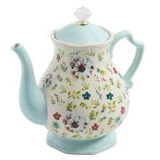 Pioneer Woman ( 2.7 Qt) Tea Pot Stoneware Kari Mint Green Pitcher NEW