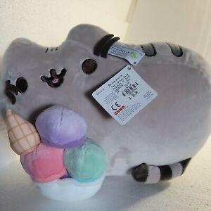 """Pusheen Ice Cream Sundae Snackable 12"""" Stuffed Toy Plush GUND Puffy"""
