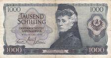 Billet banque AUTRICHE AUSTRIA 1000 SCHILLING 1966 état voir scan 899