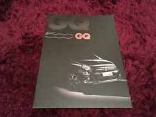 Fiat 500 GQ Limited Edition Brochure 2013