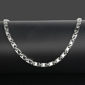 Men's Silver Pure Titanium Magnetic Therapy Necklace Neck Arthritis Headaches