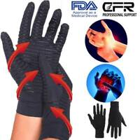 Compression Copper Gloves Hand Support  Anti Arthritis Pain Relief Full Finger P