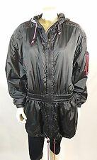 Kaelin Women's Black Nylon Coat Jacket Size 10 Vintage Hong Kong