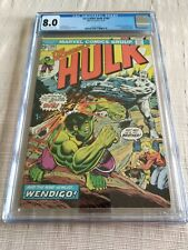 THE INCREDIBLE HULK #180 CGC 8.0 WOLVERINE CAMEO OCTOBER 1974!!