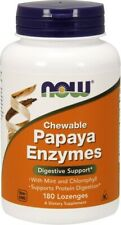 NOW Foods  Papaya Enzyme - Chewable - 180 lozenges