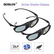High Quality 2x JX-30 Active Shutter 3D Glasses DLP-Link 96-144Hz For Projectors