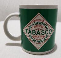 Vintage Tabasco Coffee Mug Cup White & Green McIlhenny Brand Hot Sauce Promo