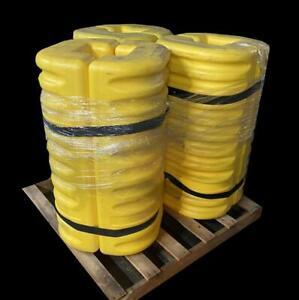 "Set of 3 42"" High x 8"" Column Protector Yellow"