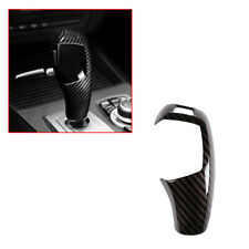 ABS Carbon Fiber Car Styling Gear Shift Cover Sticker For BMW E60 E70 X5 X6