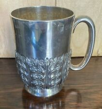 Antique Victorian Sterling Solid Silver Tankard Hallmarked 1897
